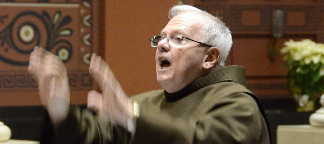 Franciscan Joy: Directing Singers 'Lights up My Life'