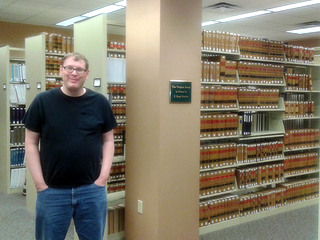 Br. Michael in the Law Library
