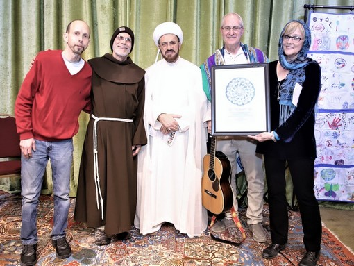 The Song and Spirit team with host Imam Mohammad Ali Elahi