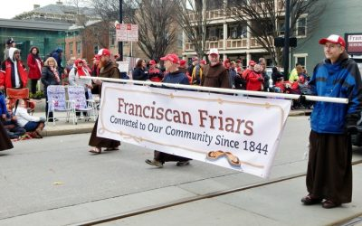 Friars at the 99th Reds Opening Day Parade