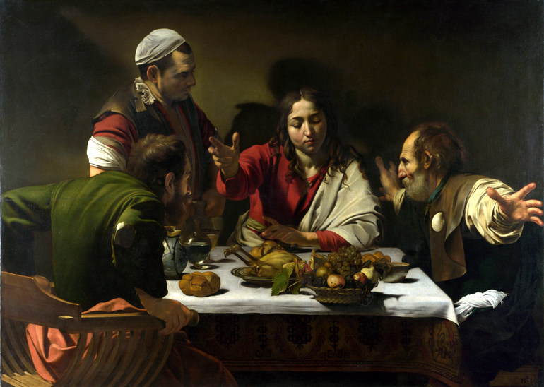 Caravaggio's Supper at Emmaus painting
