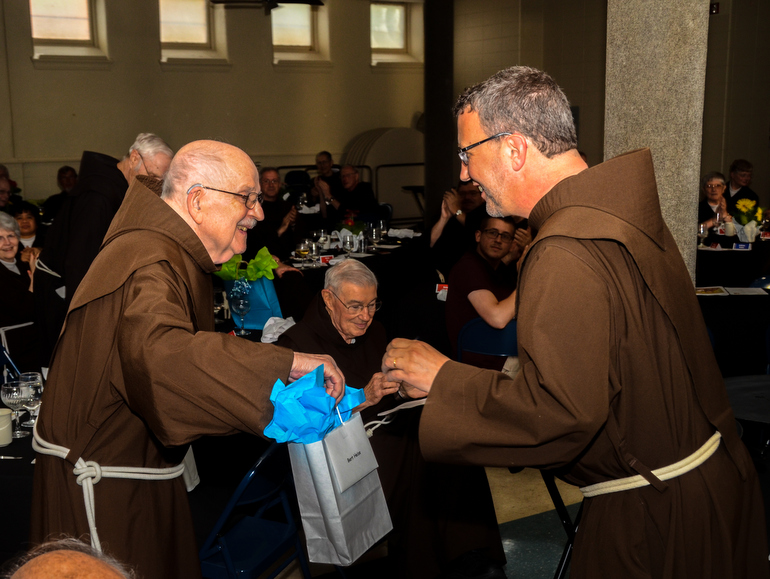 Friars Bert Heise and Mark Soehner