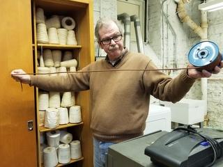 Gary Mataitis with cord materials