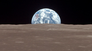 Earth from the Moon surface