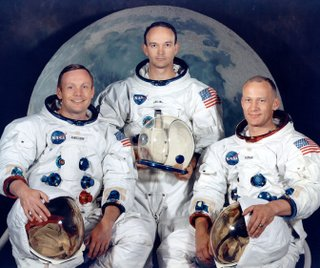 Astronauts Armstrong, Collins, and Aldrin