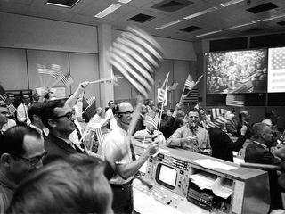flag waving at NASA