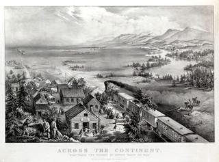 Town train sea