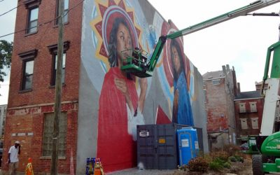 Annunciation mural on Pleasant Street friary