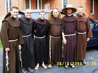 Friars in habit