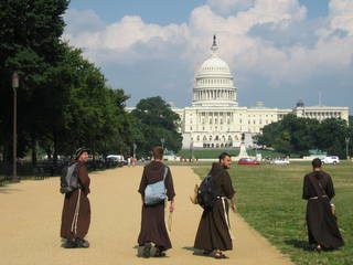 Friars near Capitol in Washington DC