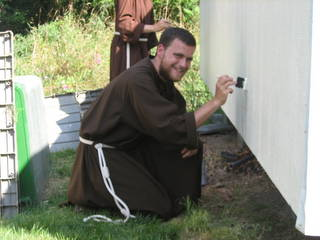 Friar painting shed