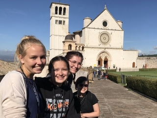 Rb students and Basilica of St. Frnacis