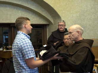 Novice with friars