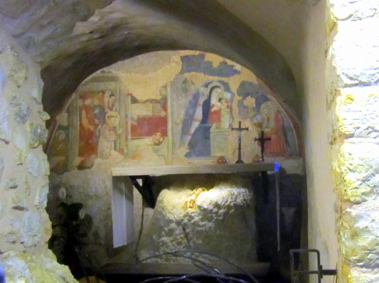 Grotto in Greccio