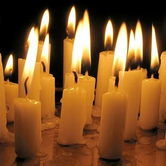 many candles lit