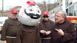 Friars and Reds mascot head