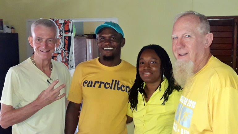 Fr. Jim, Dwayne, Tahira, and Br. Steve