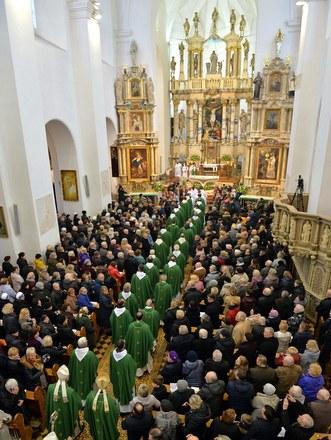 Mass at Baroque church