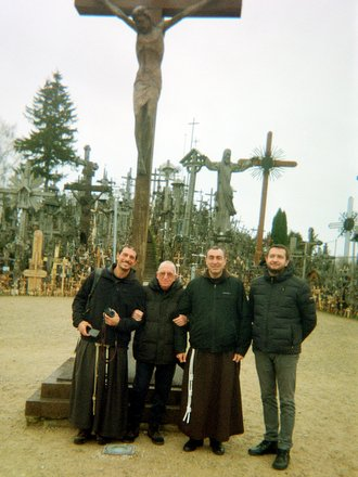 4 friars at Hill of Crosses