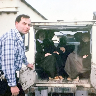 Br. Jim with Poor Clares