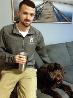 Teacher/handler with dog