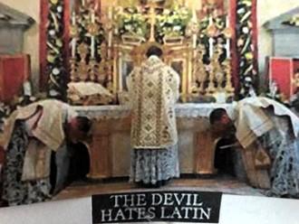 Postcard of Latin Mass
