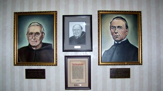 3 photos on wall of Kolping Society