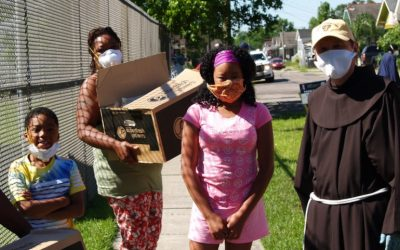 Food distribution in New Orleans