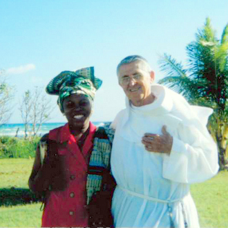friar and parishioner in jamaica
