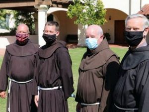 friars in masks
