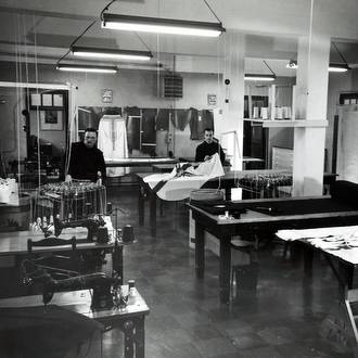 friars in tailor shop