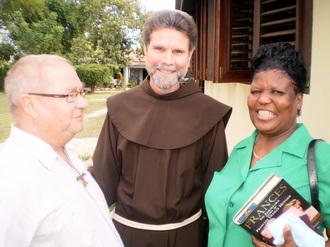 friar and parishioners