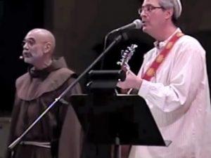2 men singing