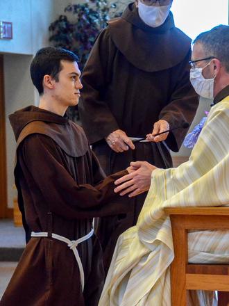 friar kneeling