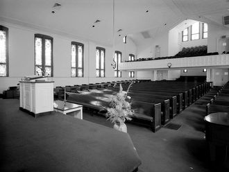 view of pulpit and pews