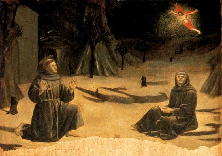 st francis receives stigmata with Br. Leo