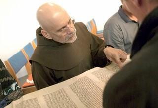 friar reading scroll