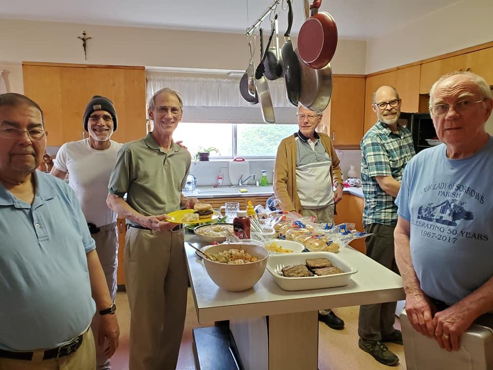 friars in kitchen