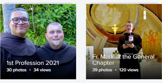 2 young friars & friar at altar
