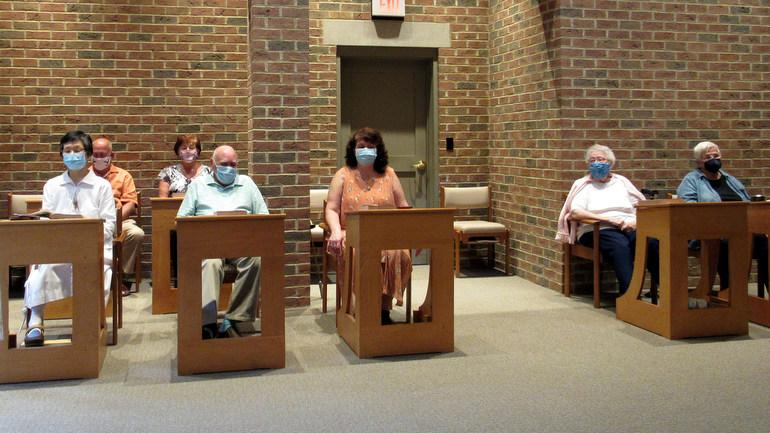 people in chapel