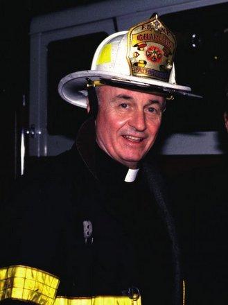 friar in fireman uniform