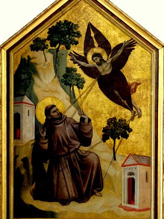 painting of Francis receiving stigmata