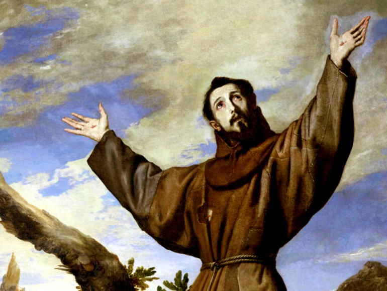 painting of St. Francis receiving the stigmata