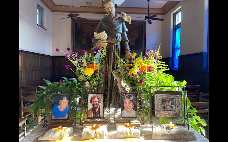 photo display of deceased family members