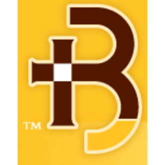 Brown and gold logo
