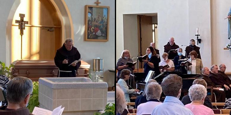 friars and friends in church